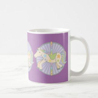 Merry-Go-Round Carousel Pony in Purple Coffee Mug