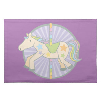 Merry-Go-Round Carousel Pony in Purple Placemat