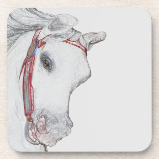Merry-Go-Round Carousel Ride Horse Gray Drink Coaster