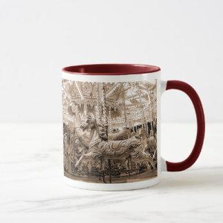 Merry-go-round / Carousel - Sepia Mug