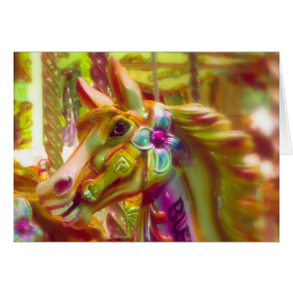 Merry-go-round Horse Greeting Card