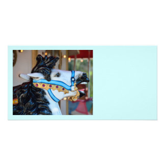 Merry-Go-Round horse Photo Greeting Card