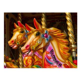 Merry-go-round Horses Postcard