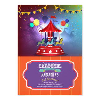 Merry Go Round Invitation