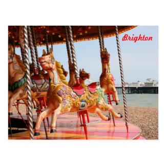 Merry-go-round Postcard