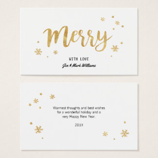 Merry (Gold) Business Card