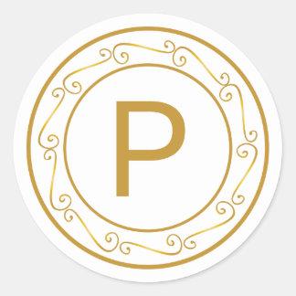 Merry Gold Tone Monogram Initial Envelope Seal