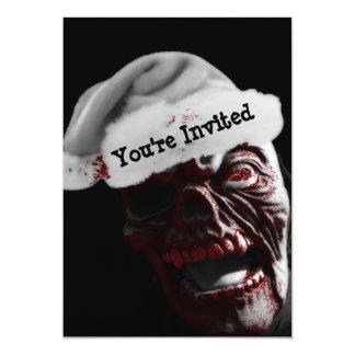 Merry Gory Halloween Zombie Santa 13 Cm X 18 Cm Invitation Card