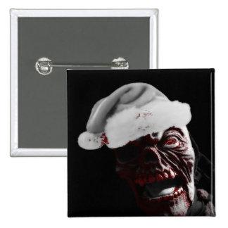 Merry Gory Halloween Zombie Santa Pin