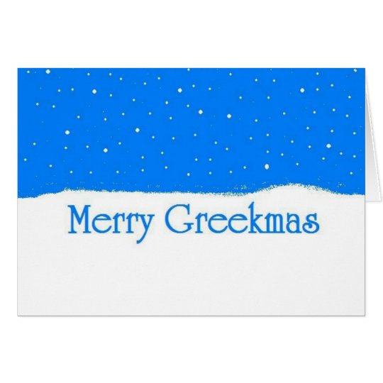 Merry Greekmas - Greek Christmas Card