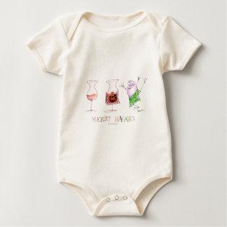 merry haggis baby bodysuit