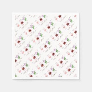 merry haggis paper napkin