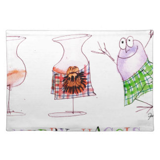 merry haggis placemat