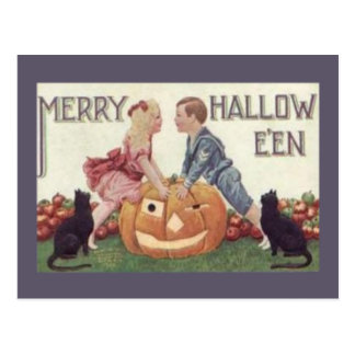 Merry Hallowe'en Postcard