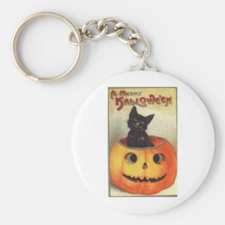 Merry halloween basic round button key ring