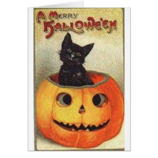 Merry halloween greeting card