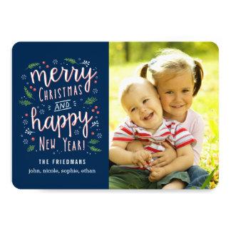 Merry Happy Editable Colour Holiday Photo Cards 13 Cm X 18 Cm Invitation Card