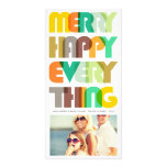Merry Happy Everything Colourful Holiday Greetings Picture Card