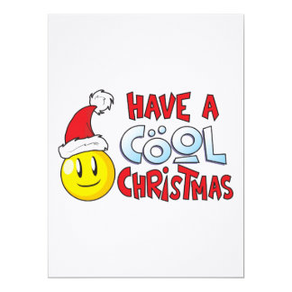 Merry Have a Cool Christmas Invitation Stamp Label