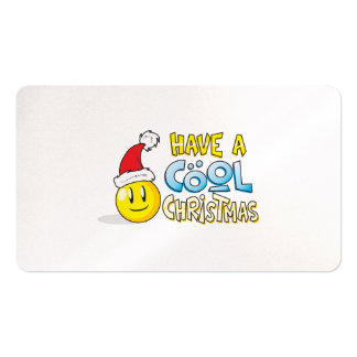 Merry Have a Cool Christmas Invites Poster Stamps Business Cards