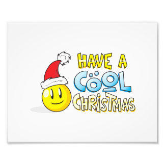 Merry Have a Cool Christmas Invites Poster Stamps Photographic Print