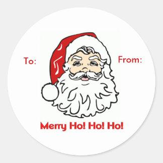 Merry Ho! Ho! Ho! Round Sticker