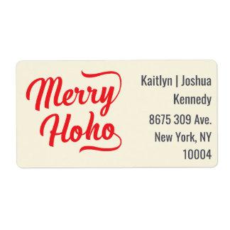 Merry Ho Ho Red Script Overlay Festive Christmas