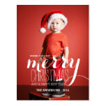 Merry Holiday Wishes   Holiday Photo Postcard