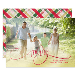 Merry Holiday Wishes|Photo Card