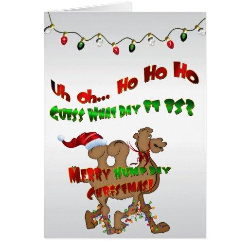 Merry Hump Day Christmas Camel HO HO HO 2 Cards