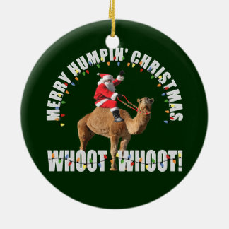 Merry Humpin' Christmas Santa & Camel Christmas Ornament