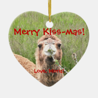 Merry Kiss-mas!  Love, Mona! Christmas Ornament