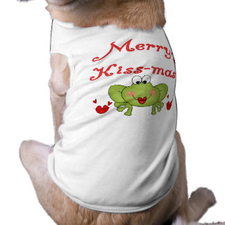Merry Kiss-Mas Tshirts and Gifts Sleeveless Dog Shirt