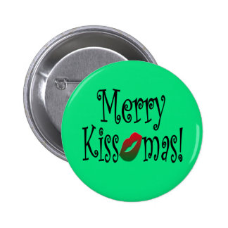 Merry Kissmas Button