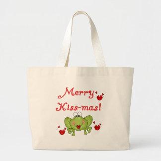 Merry Kissmas Jumbo Tote Bag