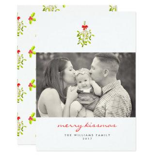 Merry Kissmas Mistletoe Christmas Cards