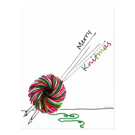 Merry Knitmas Postcard