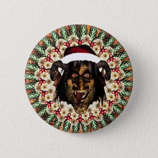 Merry Krampus 6 Cm Round Badge