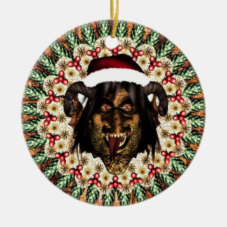 Merry Krampus Christmas Ornament