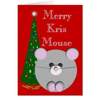 Merry Kris Mouse Card