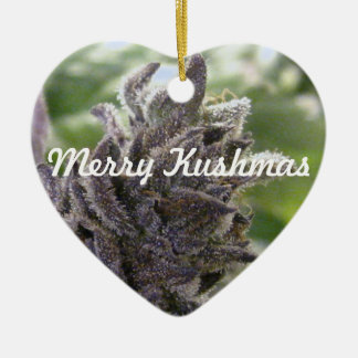 Merry Kushmas Christmas Ornament