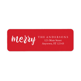Merry Leaves Holiday Address Labels