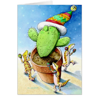 Merry Little Cactus Greeting Card