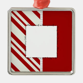 Merry Little Christmas 2 Silver-Colored Square Decoration