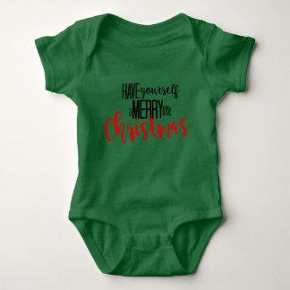 merry little christmas baby bodysuit
