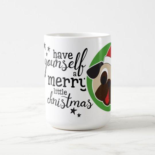 Merry Little Christmas Fawn Santa Coffee Mug
