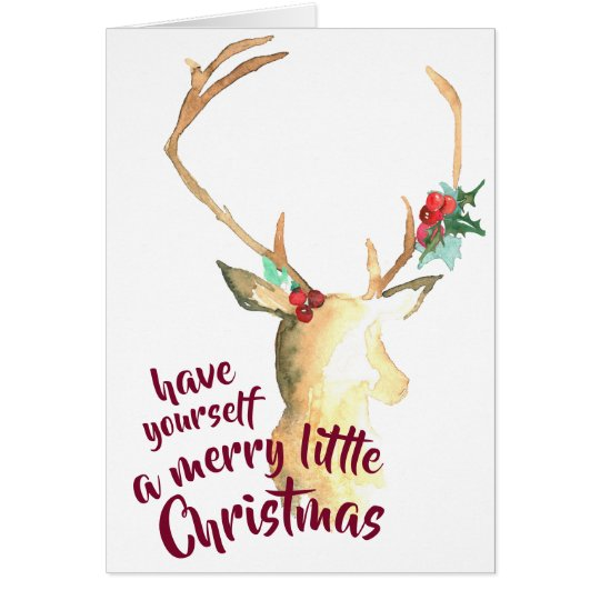 Merry Little Christmas Greeting Card