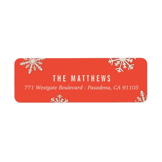 Merry Little Christmas Holiday Address Labels