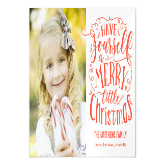 Merry Little Christmas Holiday Magnetic Card