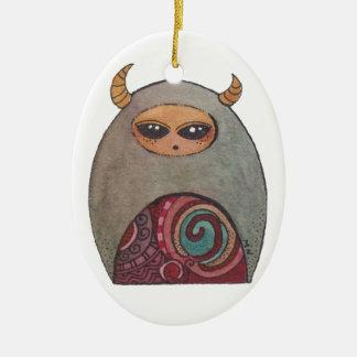 Merry Little Christmas Imp Ceramic Oval Decoration